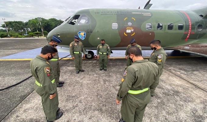 TNI-AU Terbangkan Alutsista Guna Membantu Korban Gempa Majene