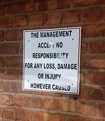 Warning sign - Lancashire FA - Leyland