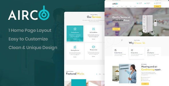 Airco - Repair Shop PSD Template