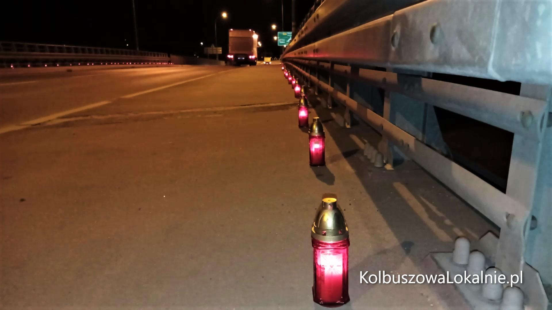 Znicze na moście Ofiar Katastrofy [WIDEO, FOTO]
