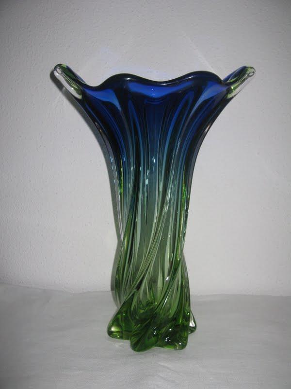 Cobalt Blue Murano Flower Vases Gardening Flower And Vegetables