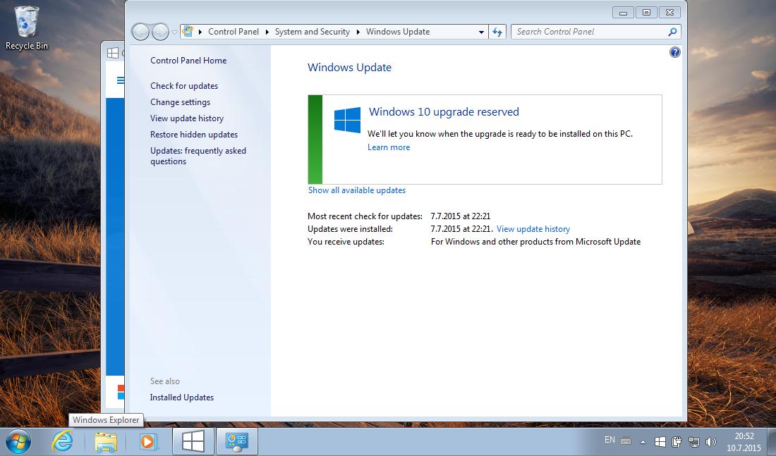 Windows 7 Päivitys Windows 10 Ilmaiseksi