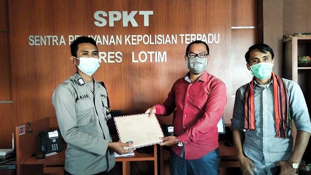 Mantan ketua fraksi Gerindra Lombok Timur dilaporkan ke Polisi