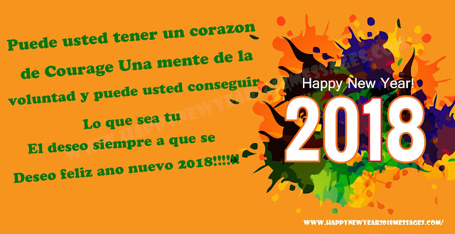 Happy New Year 2018 Spanish