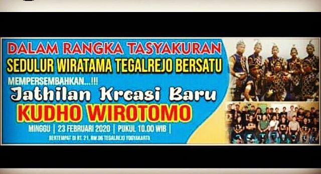 23 Februari 2020 - Pkl 10.00 - Live Jathilan Kudho Wirotomo - RT 21 RW 6 Tegalrejo Yogyakarta