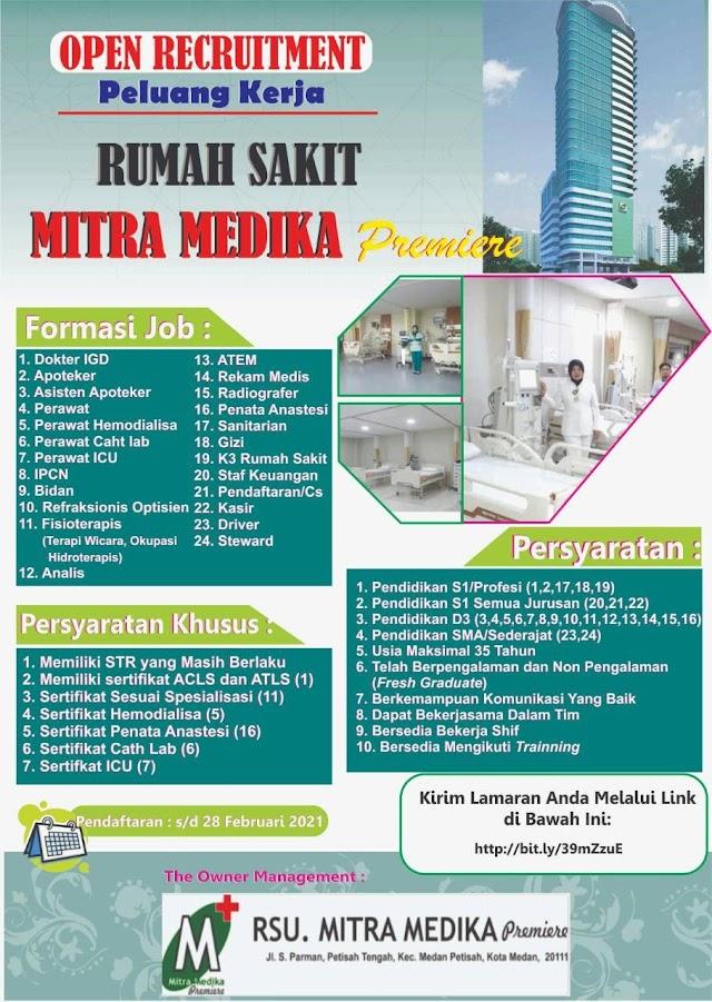 Loker Dokter RS Mitra Medika Premiere Kota Medan