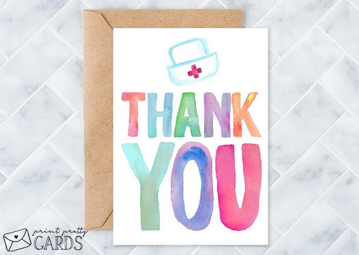 Nurse Thank You Cards