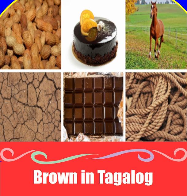 Brown in Tagalog