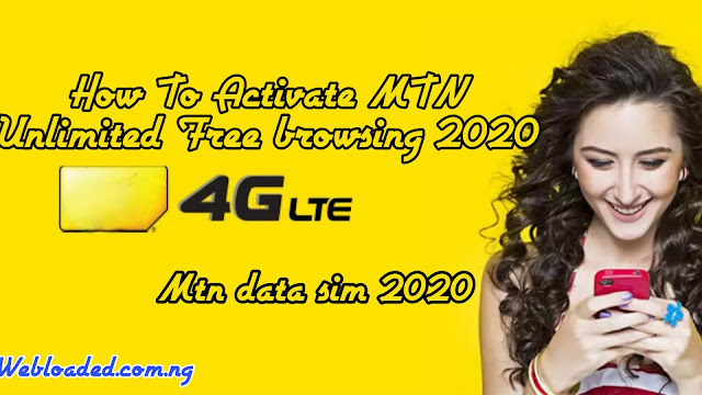 How To Activate MTN Unlimited Browsing 2020