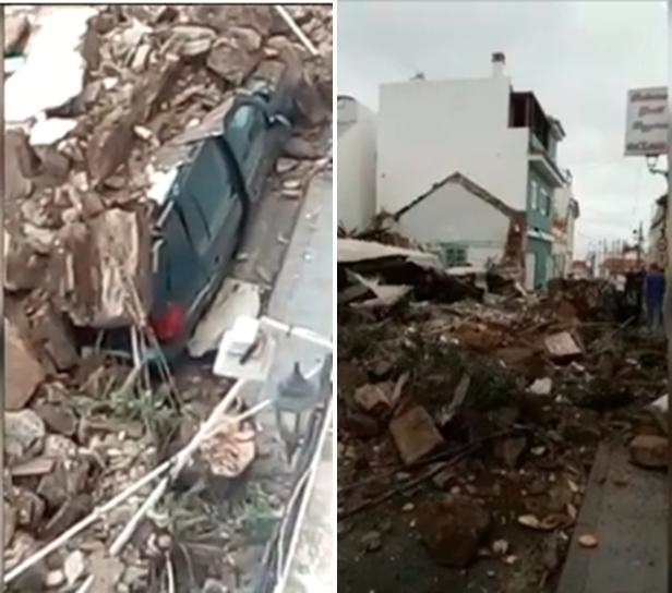 Hundimiento de vivienda en Santa Brígida, una mujer herida