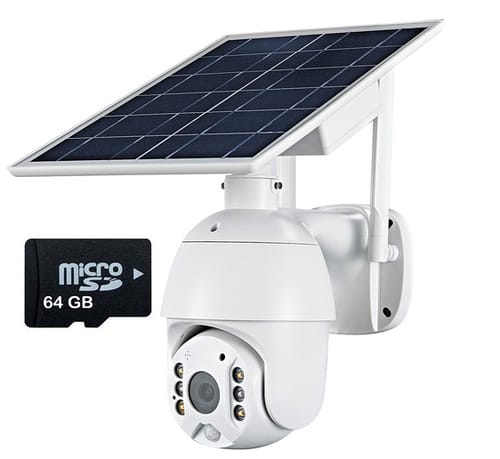 Loosafe Solar Battery Powered Outdoor Security Camera