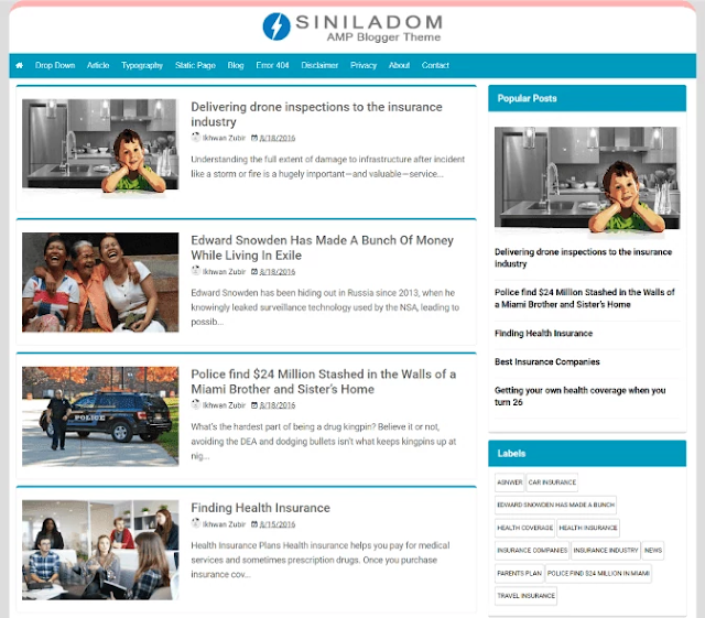 siniladom blogger template, amp blogger template, best free google amp supported blogger templates, amp blogger template free download, seo friendly blogger template