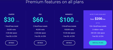 Premium Features, Kinsta, wordpress hosting,