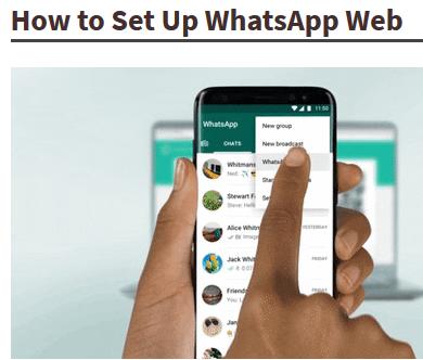 Whatsapp web kaise  kaam kerta hai
