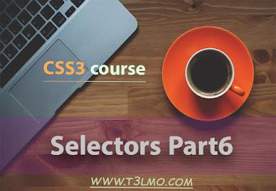 الجزء السادس والأخير من selectors