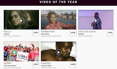 Voter pour vos idoles aux MTV VMAs 2016