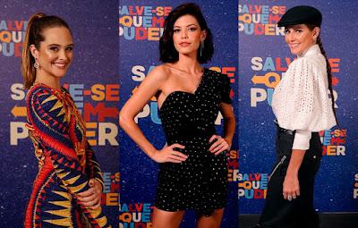 Juliana Paiva , Vitória Strada e Deborah Secco são as três protagonistas de 'Salve-se Quem Puder' — Foto: Artur Meninea/Gshow