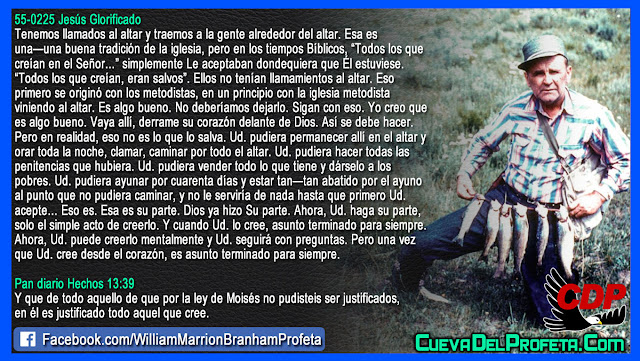 Y cuando usted lo cree es asunto terminado para siempre - William Branham en Español