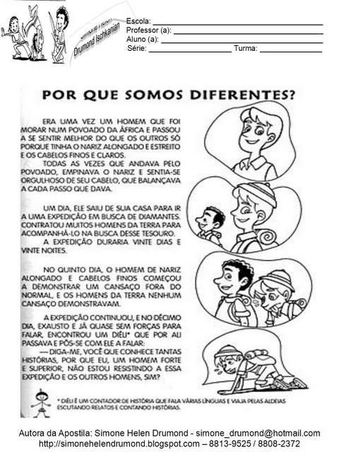 Por que somos Diferentes? - Consciência Negra.