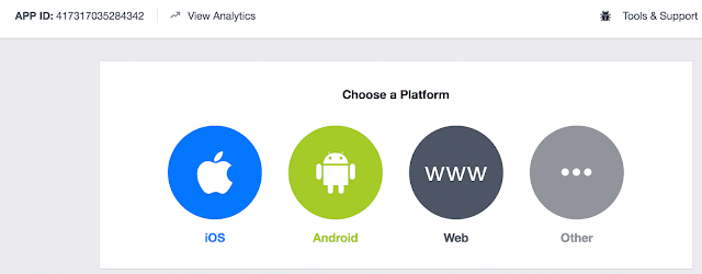 Select platform for your facebook app as iOS