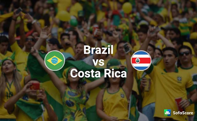 موعد مباراة البرازيل وكوستاريكا Brazil vs Costa Rica في مونديال 2018 في روسيا