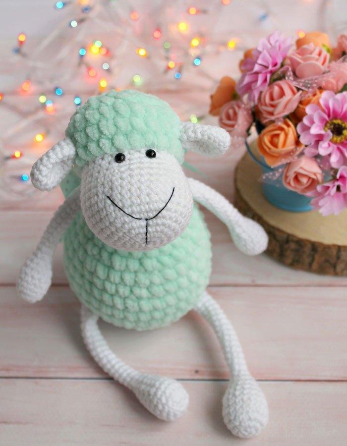 Knitting Stuffed Animals For Beginners : Amigurumi sheep free crochetpattern gratis haakpatroon
