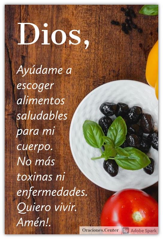 Oraciones de Alimentación Saludable