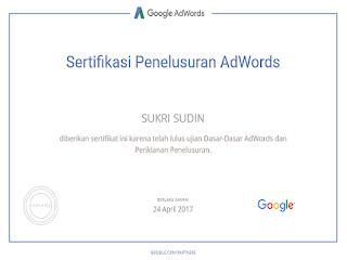 sertifikat-iklan-google -adwords-sukri-sudin