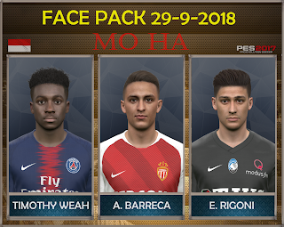 PES 2017 Facepack 29-9-2018 by Mo Ha