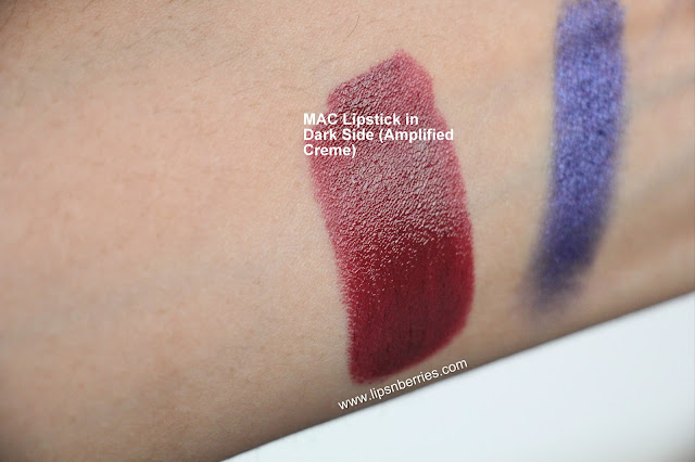 MAC Dark side swatch