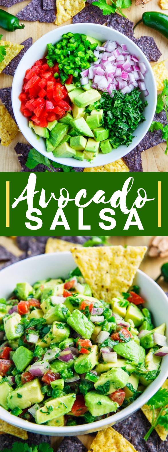 Avocado Salsa #vegetarian #appetizers
