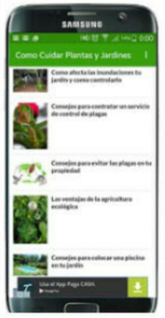 App Cómo cuidar plantas y jardines
