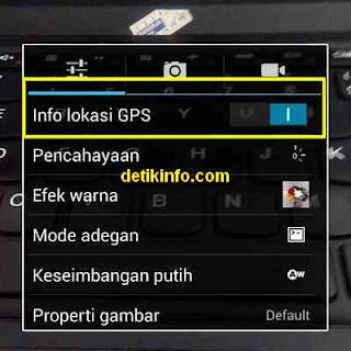 pengaturan info lokasi GPS