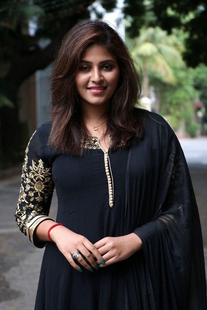 Anjali at Taramani Thanks Giving Meet Photos