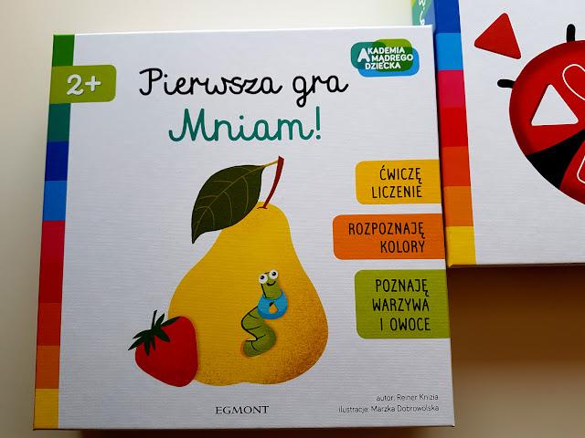 Akademia Mądrego Dziecka EGMONT-Pierwsza gra. Zwierzątka.-Pierwsza gra. Mniam!  - gry i zabawy dla dzieci - książeczki dla dzieci - nauka kolorów i kształtów - nauka liczenia - owoce i warzywa