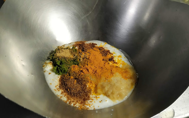 Mixed all ingredients for tangdi kebab food recipe