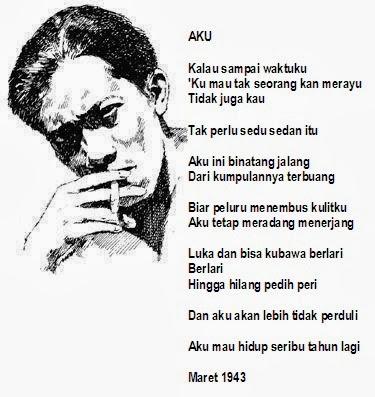 puisi indah dan bermakna Chairil Anwar yang terkenal dan melegenda di dunia puisi dan syair Indonesia