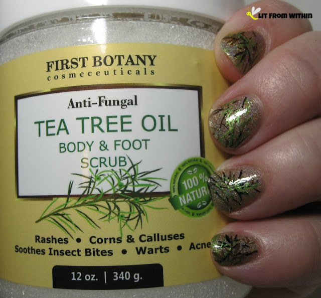 nailart inspired by First Botany Tea Tree Oil Body & Foot Scrub
