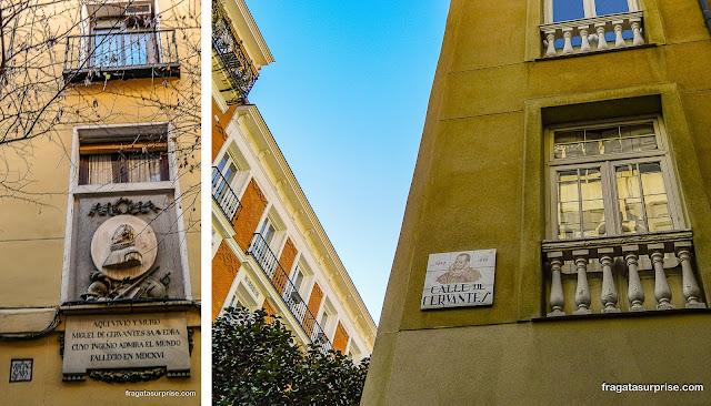 Casa de Cervantes, Madri, Barrio de las Letras