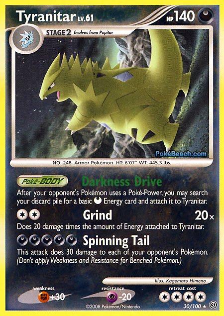 Pokemon Card of the Day: Tyranitar (Stormfront ...
