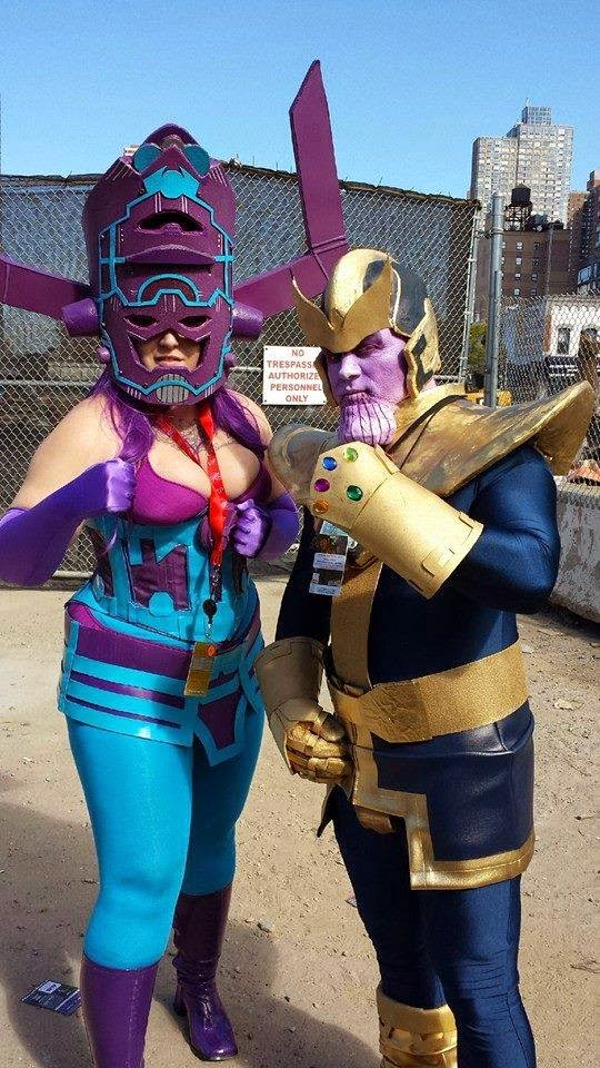 Maiden America Cosplay - Galactus and Thanos