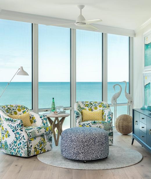 Chic Colorful Florida Highrise Condo Design Interior Decorating Idea
