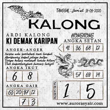 Syair Kalong HK Jumat