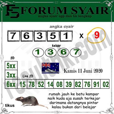 Kode Syair Sydney Kamis 11 Juni 2020 - Forum Syair