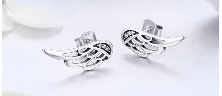 韓風羽翼 925純銀耳環