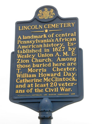Lincoln Cemetery Historical Marker in Harrisburg Pennsylvania