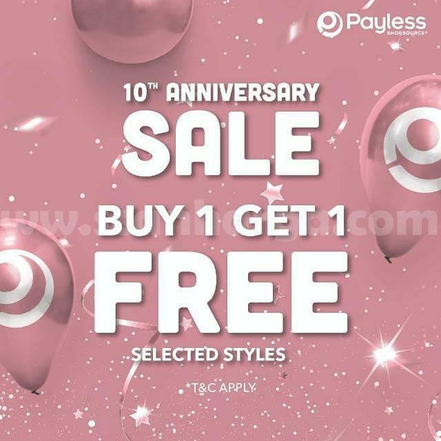 Payless Promo 10Th Anniversary Sale Beli 1 Gratis 1