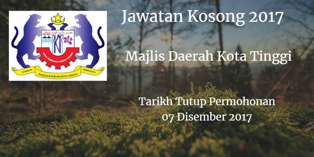 Jawatan Kosong MDKT 07 Disember 2017