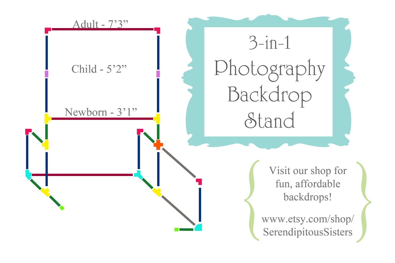 how to make your own backdrop stand