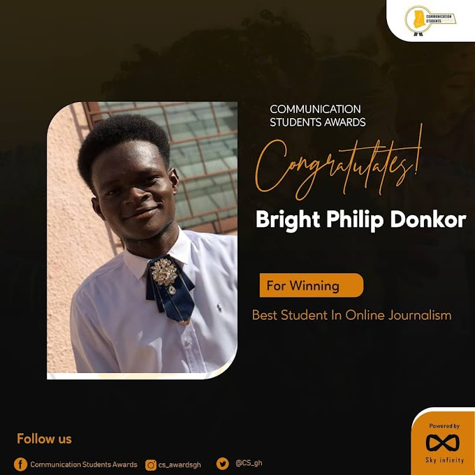 Bright Philip Donkor wins 2020 CSA Best Student in Online Journalism